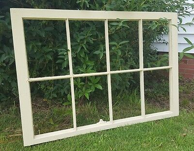 VINTAGE SASH ANTIQUE WOOD WINDOW UNIQUE FRAME PINTEREST 40x27 CREAM COLOR