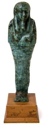 Ancient Egyptian Blue Faience Ushabti Late Period c.664-332 BC.