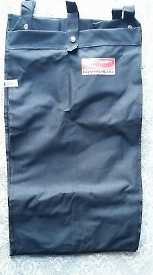 """Commerrcial Cleaning Cart Bag by Sun, Black, Fits 15.24"""" W x 12.09"""" L x 29.95""""H"""