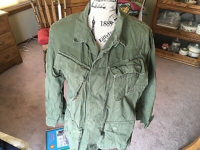 US Army Ripstop Slant Pocket Shirt 1969 Dated Size Small