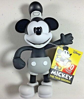MICKEY MOUSE Steamboat Willie Posable Figure 90 Years of Magic 90th Anniversary