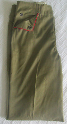 Vintage Boy Scouts Pants in Light Olive with Red Trim on the Pockets Waist 29