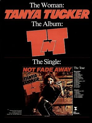 "1978 Tanya Tucker ""not Fade Away"" Single Ad"