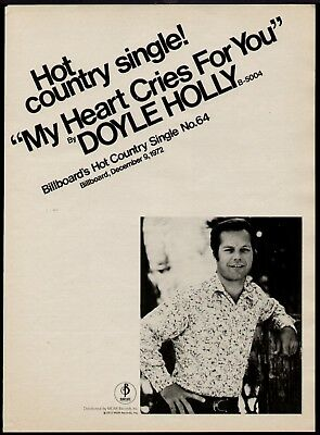 "1972 Doyle Holly ""my Heart Ceies For You"" Ad"
