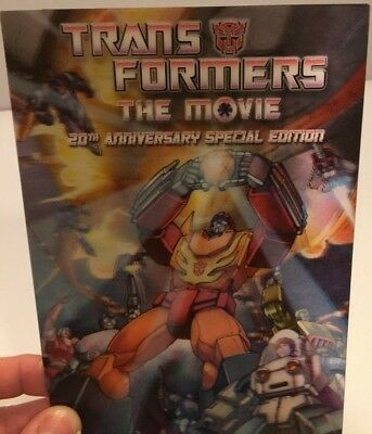 TRANSFORMERS The Movie DVD/2 disc set 20th Anniversary Edition lenticular cover