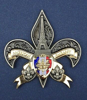 USMC MSG Marine Security Guard Challenge Coin Paris, France