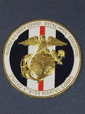 USMC MSG Marine Security Guard Challenge Coin Singapore, Singapore