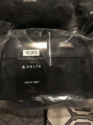 NEW! Soft Sided Black Delta Air Lines Tumi Amenity Kit In Bag August