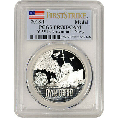 2018-P US World War I Commemorative Silver Navy - PCGS PR70 DCAM First Strike
