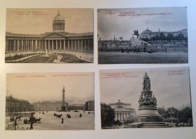 Lot 4 C1907 Russian Postcards  St Petersburg Petersbourg Russia Russe Unused 999