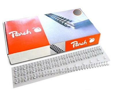 Peach Wire Binding Combs, 12mm silver, 3:1'', 34 loops A4, 100 pcs. PW127-01 - N