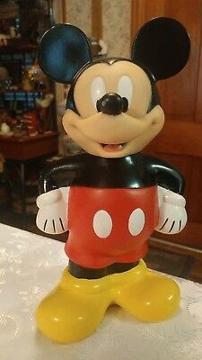 Vintage Mickey Mouse Beverage Bottle Cup With Hole Signed Disney No Straw