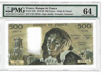 P-156e 1979-86 500 Francs, Banque de France, PMG 64 Very Choice Uncirculated