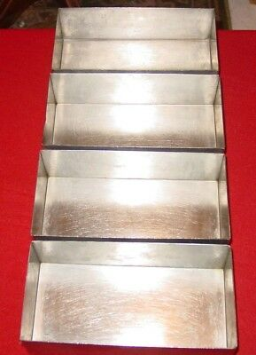 Culinaire Stainless Steel Bread baking pan - loaf pan - SSPAN-02  lot of 4