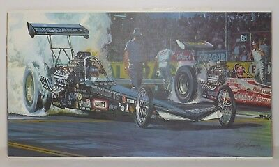 The Checkered Flag RACING PRINT William J. Sims 1975 NHRA Top Fuel Dragster