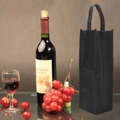 1Pc Non-woven Fabric Red Wine Bottle Bags Gift Weddings Party Holiday Washable