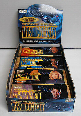 1996 Star Trek First Contact Chocolate Candy Bars Partial Box