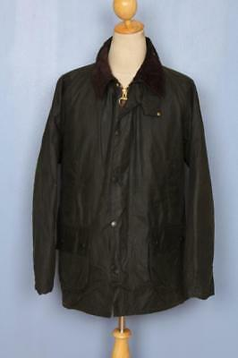 Mens BARBOUR Bedale Waxed Jacket Green Size 42