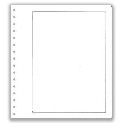 Pack of 10 KaBe Blank Sheets Pages For Album With Black Borderline #21