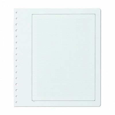 Pack 10 KaBe Blank Sheets Album Pages With Black Borderline & Grid Underlay #24