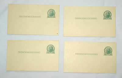 Four UNUSED Thomas Jefferson One Cent Post Cards preprinted postal penny