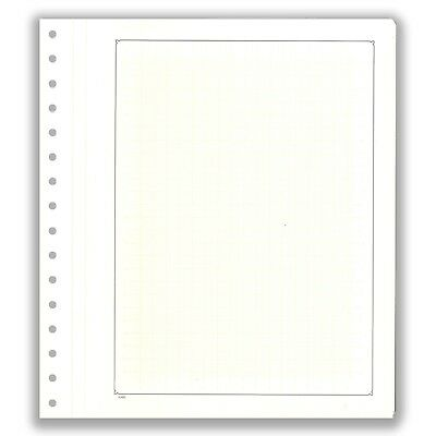Pack 10 KaBe Blank Sheet Extra Strong Linen Hinge Black Borderline With Grid #54
