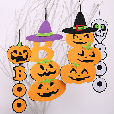 Funny Halloween Ghost Pumpkin Spooky Non-woven Hanging Decor Trick Prop Ghost