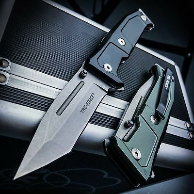 """8.5"""" TACTICAL Spring Assisted Open Pocket Knife Rescue Folding Black Tanto EDC"""
