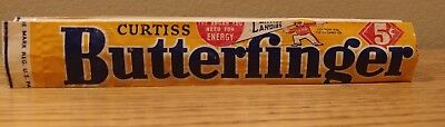 Vintage 1936 BUTTERFINGER Candy Bar Wrapper 5 cents CURTISS CANDY CO.