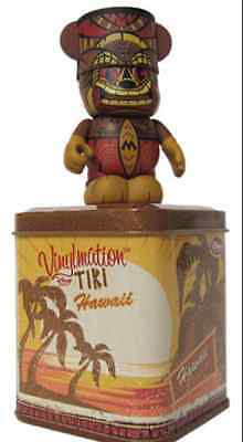 Disney Vinylmation - Hawaii Exclusive - Hawaiian Tiki Statue w/ Tin