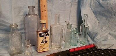 Lot Of 9 vintage Collectible Bottles