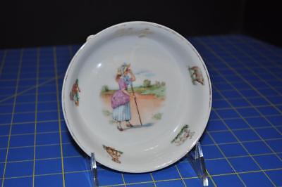 1900 Era Ceramic and Baby's Dish Little Bo Peep