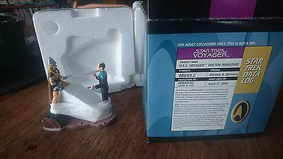"1996 Applause Star Trek Voyager Diorama Doctor ""Heroes + Demons"" LE MIB # 1767"