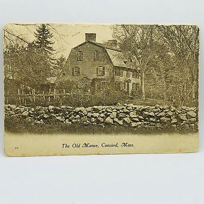 Postcard Massachusetts The Old Manse, Concord Revolutionary Towns 1000-13