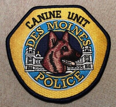 IA Des Moines Iowa Canine Unit Police Patch