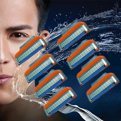 5 Edges Shaving Razor Blades For Men Fusion Shaver Trimmer Refills Cartridges
