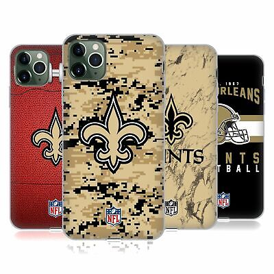OFFICIAL NFL 2018/19 NEW ORLEANS SAINTS SOFT GEL CASE FOR APPLE iPHONE PHONES