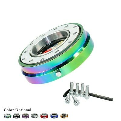 Thin Version 6 Bolt Steering Wheel Hub Adapter Quick Release Boss Kit Neo Chrome
