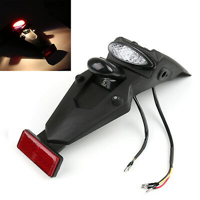 Off-road MX Motocross Dual Sport Pit Dirt Bike LED Rear Fender Brake Tail Light/