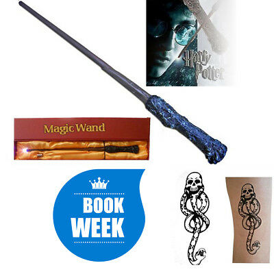 "14"" Harry Potter LED Granger Magic Wand Tattoo Cosplay Scarf Robe for Book Week"