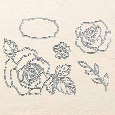 Stampin' Up! Sizzix Thinlits - Rose Garden - Brand New