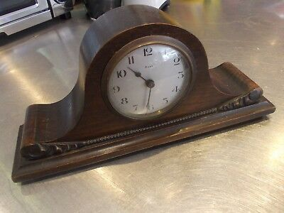MANTLE MANTEL clock with FIXED WINDING KEY price includes uk post EDWARDIAN