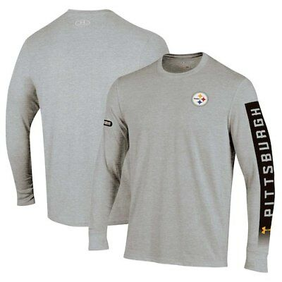 3299bc68797 Pittsburgh Steelers Under Armour Combine Authentic City Name Long Sleeve T- Shirt