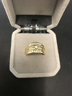 3 Piece Diamond Wedding Ring Set 18ct Yellow Gold With Valuation Certificate