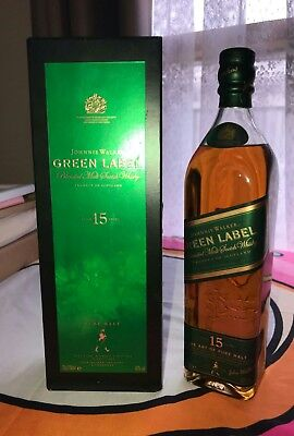 Johnnie Walker Scotch Whisky Green Label! Old Release! 700 ml & Boxed! Only 1!