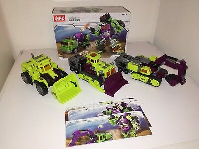 Transformers NBK KO Generation Toy 4 componenti Gravity Builder Devastator
