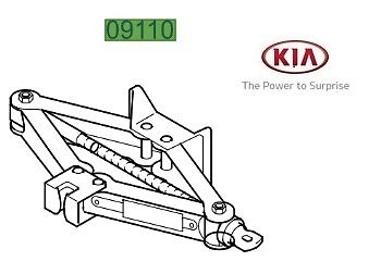 Genuine Kia Ceed 2016-2017 Jack and Handle - 09110A5000