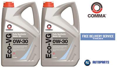 Genuine Comma Performance Motor Oil  Eco-VG 0W-30 Fully Synthetic 10L (5L X 2)