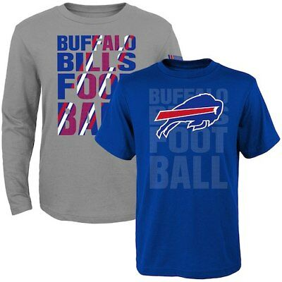 Buffalo Bills Toddler Two-Pack Playmaker Long Sleeve & Short Sleeve T-Shirt