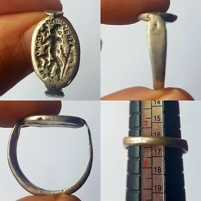 carved brass stunning rare nice ring